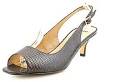 J. Renee Classie Women Peep-toe Synthetic Brown Slingback Heel.