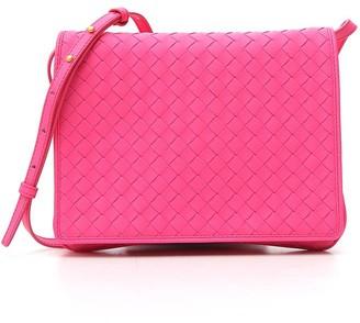 Bottega Veneta Intrecciato Front Flap Crossbody Bag