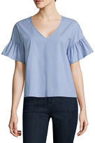 BELLE + SKY Elbow-Sleeve Shirt