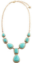 Barse Women's Bronze/Genuine Turquoise Necklace SN6942T01B