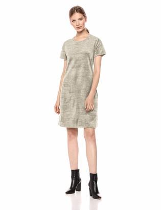 Daily Ritual Amazon Brand Women's Velour Short-Sleeve Lounge Dress