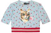 Gucci Baby cat print sweatshirt