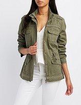 Charlotte Russe Embellished Anorak Jacket