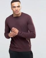 Asos Cotton Square Neck Sweater in Plum