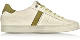 D'Acquasparta D'Acquasparta Davis Off White and Green Nubuk Sneaker