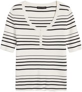 Banana Republic Stretch-Cotton Henley Sweater Top