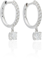 Anita Ko Single Huggie with Round Diamond