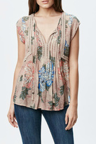 Daniel Rainn Pleated Print Blouse