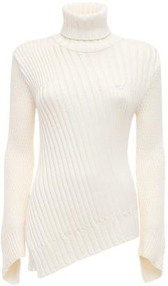 Coperni Viscose Blend Rib Knit Sweater