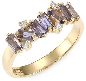 Suzanne Kalan 14K Yellow Gold, Topaz, Iolite & Diamond Ring