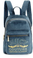 Juicy Couture Certified Glamour Velour Backpack