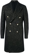 Tagliatore tweed double breasted coat