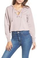 Cotton Emporium Women's Lace-Up Hoodie