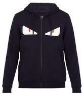 Fendi Bag Bugs-appliqué Hooded Wool-blend Sweatshirt