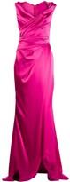 Talbot Runhof draped long dress