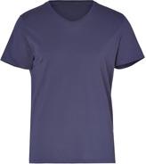 American Vintage Navy Cotton Short Sleeve V-Neck T-Shirt
