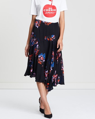Whistles Freya Print Asymmetric Skirt
