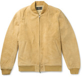 Beams Suede Blouson Jacket - Mustard