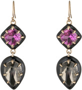 Alexis Bittar Enamel Framed Custom Gemstone Drop Earring