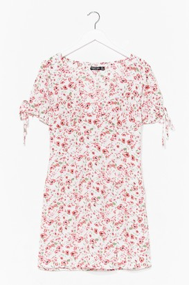 Nasty Gal Womens Let Your Love Grow Floral Mini Dress - White