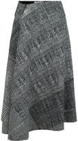 Jason Wu checked draped skirt