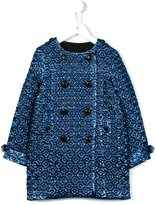Burberry textured jacquard coat - kids - Silk/Polyamide/Polyester/Viscose - 5 yrs