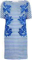 Blue Stripe Palm Print T-Shirt Dress, Stella McCartney
