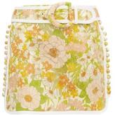 Zimmermann Super Eight Floral Brocade Cotton-blend Mini Skirt - Womens - Pink Multi
