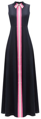 Roksanda Aima Striped Crepe Maxi Dress - Navy Multi
