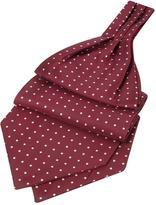 Forzieri Polkadot Printed Twill Silk Ascot