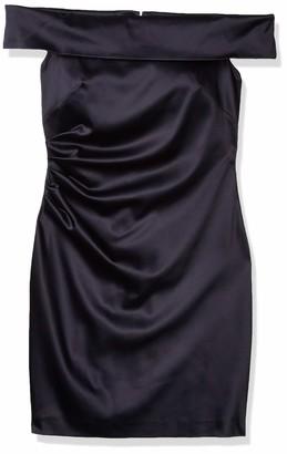 Eliza J Women's Off The Shoulder Side Pleated Sheath Dress