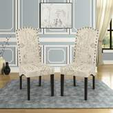 Ophelia Linen Upholstered Parsons Chair in Beige & Co.