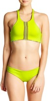Maaji Lime Surrealism Reversible Soft Cup Sporty Bikini Top