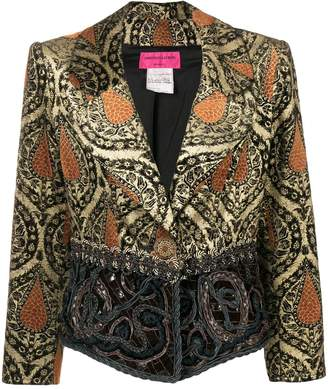 Christian Lacroix Pre-Owned jacquard fitted jacket