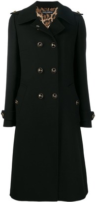 Dolce & Gabbana Double-Breasted Long Coat