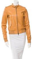 Rachel Zoe Leather Bomber Jacket