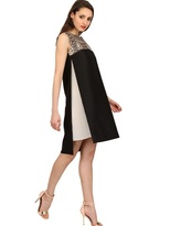 Bally Wool, Silk Gauze And Python Dress