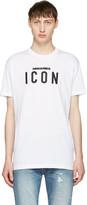 DSQUARED2 White Icon Logo T-shirt