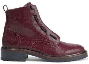 Rag & Bone Cannon Glossed Stingray-effect Leather Ankle Boots