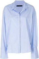 Juun.J striped oversized cuff shirt