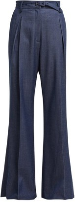Gabriela Hearst Dora Wide Leg Trousers - Womens - Indigo
