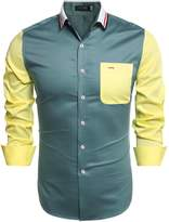 Coofandy Men's Fashion Slim Fit Long sleeves Casual Shirts