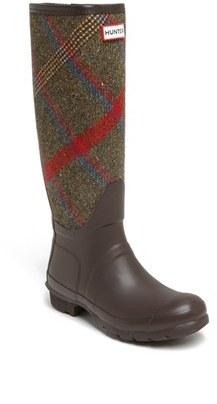 Hunter 'Original Mallalieus' Plaid Rain Boot (Women)