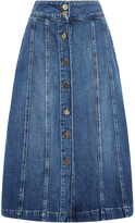 Frame Le Panel Button Front Skirt