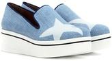 Stella McCartney Binx Star Denim Platform Slip-on Sneakers