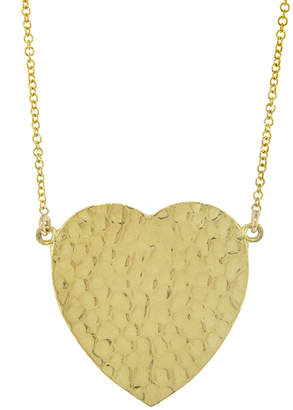 Jennifer Meyer Hammered Heart Necklace - Yellow Gold