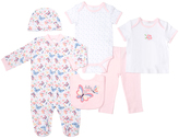 Cutie Pie Baby White & Pink Butterfly Six-Piece Layette Set