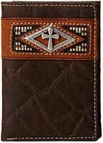 Ariat Diamond Cross Concho Tri-Fold Wallet