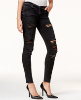 True Religion Casey Smoke Wash Ripped Super Skinny Jeans