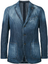 Lardini washed denim jacket - men - Cotton - 46